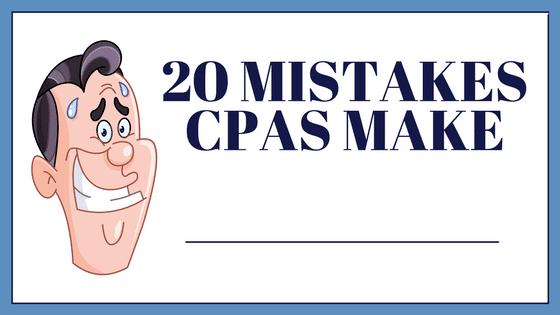 Mistakes CPAs Make